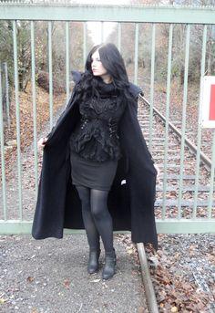 """Long Manteau Gothique Poizen Industries """"Raven"""""""