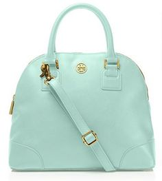 tory burch mint satchel
