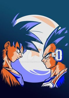Awesome design of Goku & Vegeta from the Saiyan saga!