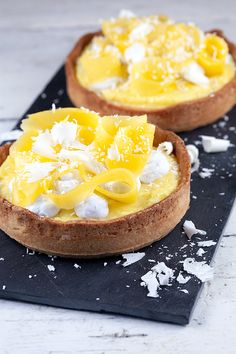 Kokos-mango tartelettes B Food, Good Food, Cake Bars, Mini Pies, Recipe Today, Dessert Recipes, Desserts, Food Pictures, Sweet Tooth