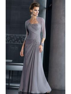 A-Line/Princess One-Shoulder Floor-Length Chiffon Mother of the Bride/Groom Dress With Applique