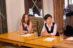 @hamutaldotan and @kristynwongtam at #WiTOpoli's May 2012 Panel Series