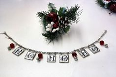 Hey, I found this really awesome Etsy listing at https://www.etsy.com/listing/211460118/glass-christmas-banner-or-garland-ho-ho