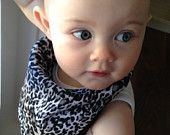 Leopard Print Bibdana Scarf and more from 2 Little Mamas on Etsy