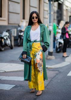 Milan Fashion Week: un street style lleno de color