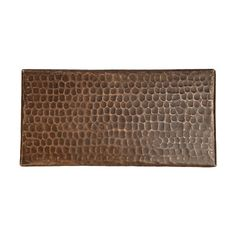 """Premier Copper Products 4"""" x 8"""" Hammered Copper Tile in Oil Rubbed Bronze"""