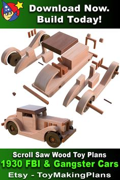 Wooden Toy Plans, Wooden Toy Trucks, Wooden Plane, Wooden Car, Outdoor Wood Projects, Diy Wood Projects, Woodworking Toys, Woodworking Projects Diy, Wooden Building Blocks