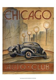 Vintage Automobile Art Prints and Posters