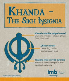 "The ""Khanda"" is the central Sikh symbol, like the cross is for Christians."