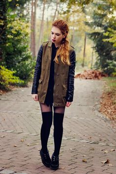 Get this look (jacket, socks, shoes) http://kalei.do/WRpTYMxI5YaCOAp3