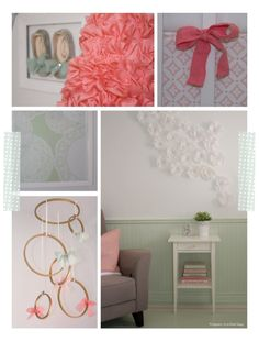 New Embroidery Hoop Mobile Girl Rooms Ideas Nursery Design, Nursery Decor, Nursery Ideas, Nursery Artwork, Room Ideas, Ruffle Lamp Shades, Sienna, Beautiful Little Girls, Project Nursery