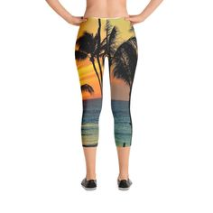 Capri Leggings, Hawaiian landscape