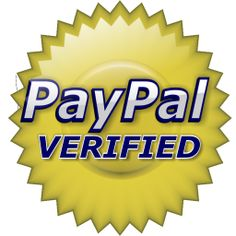 We are Pay Pal verified, assuring you every transaction is safe and secure.