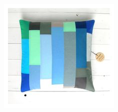 striped patchwork pillow cover