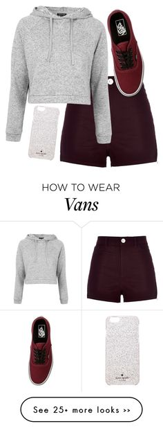 """Untitled #1183"" by ibthal-hussain on Polyvore featuring River Island, Topshop, Kate Spade and Vans"