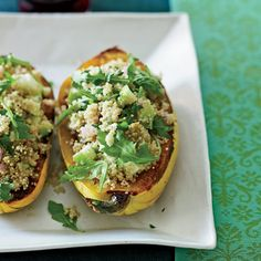 Roasted Delicata Squash with Quinoa Salad // More Grain Salads: http://www.foodandwine.com/slideshows/salads-with-grains #foodandwine
