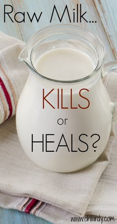 Raw Milk KILLS or HEALS?  - www.ohlardy.com I'm so sick of the CDC! You shouldn't need to file a freedom of information act for the truth!