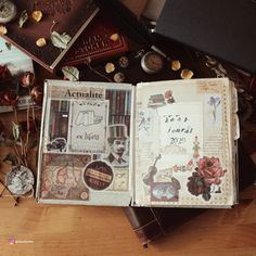 Completed 2020 Reading Journal - Art Journaling Flip-Through – Elaine Howlin - Vintage junk journal / art journal style reading journal Journal Art, Junk Journal, Art Journaling, Reading Journals, Ex Libris, Vintage Ephemera, Flipping, Craft Projects, Give It To Me