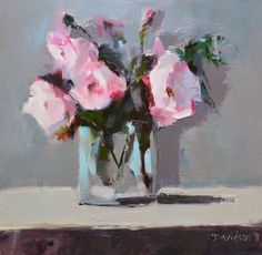 Peonies Study by Scottish Contemporary Artist Mary DAVIDSON