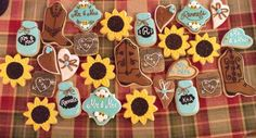 I do BBQ cookies, wedding shower cookies, western wedding cookies