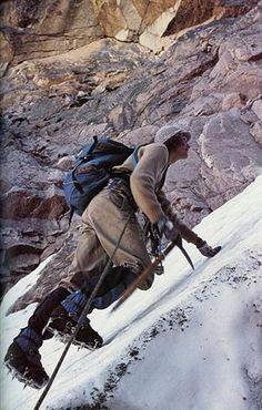 Old school mountaineering.