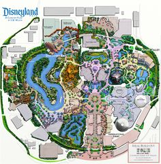 Fan Map ft Discovery Bay instead of Star Wars Disneyland Map, Disneyland Resort, Vintage Disneyland, Disney Park Maps, Disney Parks, Star Trek Theme, Star Wars, Theme Park Map, Zoo Map