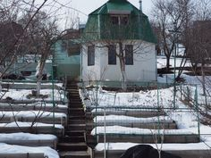 Dacha in winter. Belgorod region.