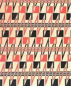 Fabric Design, 1923-24, Liubov Popova.  Gouache on paper.