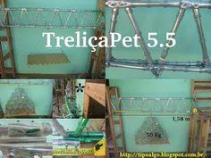 Foto: TreliçaPet versão 5.5 - Uso de dois pontos de fixação em cada nó. Em…