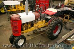 The Little Tractor Co. specializes in custom hand made half scale tractors. The Little Tractor Co. Small Tractors, Case Tractors, Old Tractors, John Deere Garden Tractors, Lawn Mower Tractor, Lawn Equipment, Old Farm Equipment, Go Kart Frame Plans, Cub Cadet Tractors