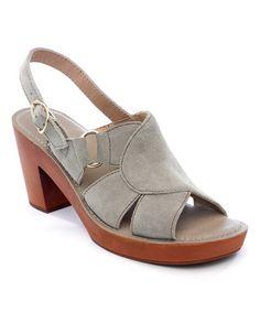 Look at this #zulilyfind! Light Gray Iris Suede Sandal #zulilyfinds