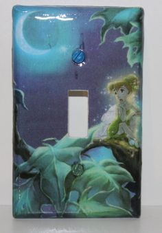 CLEARANCE Disney Tinker Bell Fairy Moon Childrens Resin Switchplate Light Cover