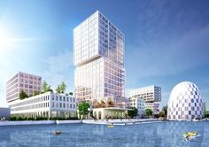 MVRDV wins competition for the new checkered high-tech hub in Hamburg