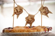 Happily Ever After pie topper