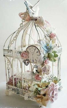 I loved birdcages even before they were trendy.