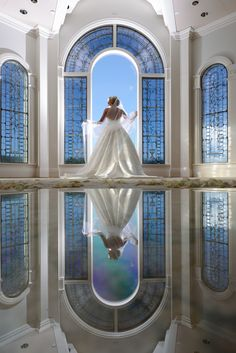 Once upon a time at Disney's Wedding Pavilion a bride's dreams were made into reality. Photo: Stephanie, Disney Fine Art Photography