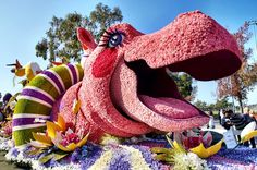 Hungry Hippo float -  Rose Parade 2016