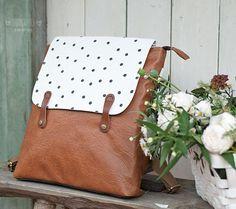 Рюкзак кожаный DOT_collection от FoxyCraftsBags на Etsy