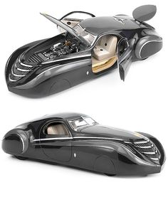 "1939 Duesenberg Coupe Simone ""Midnight Ghost"" concept car"