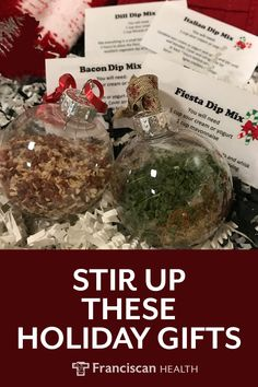 Looking for a low-cost gift without baking yet another sweet treat? Snap up these simple-to-make seasoning mixes for dips on the go. These dip mixes can be Edible Christmas Gifts, Christmas Gifts For Coworkers, Edible Gifts, Christmas Drinks, Holiday Gifts, Christmas Ideas, Christmas Crafts, Christmas Foods, Santa Gifts