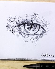 Eye Drawing Design & Decoration Workbook (Printable PDF)-Learn how to draw the b. - Eye Drawing Design & Decoration Workbook (Printable PDF)-Learn how to draw the beautiful female ani - Easy Pencil Drawings, Anime Drawings Sketches, Doodle Drawings, Cute Drawings, Realistic Drawings, Pencil Sketching, Beautiful Drawings, Animal Drawings, Anime Eyes Drawing