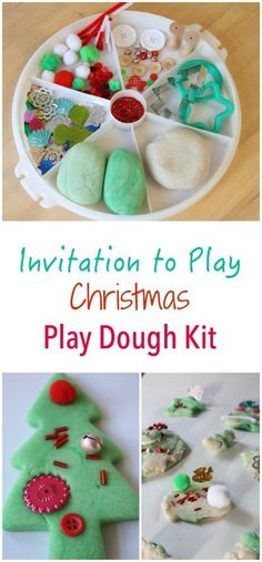 Christmas Themed Inv Christmas Themed Invitation to Play - featuring peppermint play dough snow dough and lots of sparkles! The perfect play creative and sensory kids activity in one! Christmas Activities For Kids, Preschool Christmas, Toddler Christmas, Winter Christmas, Christmas Themes, Christmas Christmas, Christmas Presents, Winter Holidays, Jamberry Christmas
