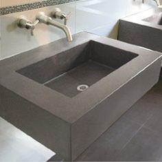 cast concrete bathroom lavatory