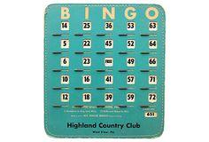Blue Bingo Card