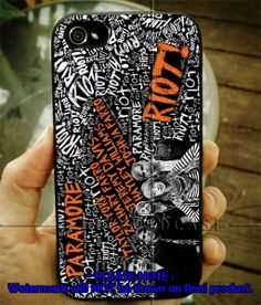 Paramore Riot wall 4/4s,5/5s/5c, Samsung Galaxy s3/s4 Case