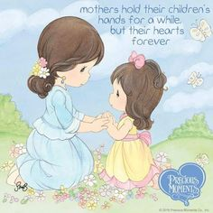 What precious moments do you remember having with your mom? Precious Moments Coloring Pages, Precious Moments Quotes, Precious Moments Figurines, Sarah Kay, Kids Hands, My Precious, Mothers Love, My Children, Cute Pictures