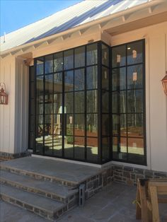 Steel glass doors