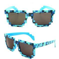 0641dc288d Deal with it Minecraft Glasses 8 bit Pixel Women Men Sunglasses Female Male  Mosaic Sun Glasses Men s Women s Glasses Boys Girls -