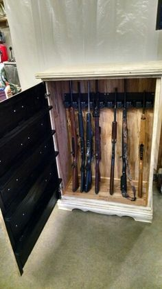 Hidden gun cabinet from a dresser