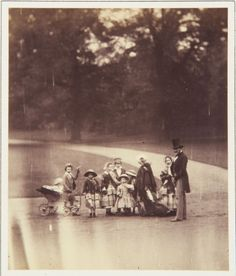 Roger Fenton (1819-69) - The Queen, the Prince and eight Royal Children in Buckingham Palace Garden